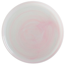 Pink Marblesque 26.5cm Glass Dinner Plates (Set of 6)