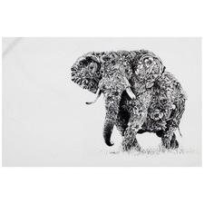 Marini Ferlazzo African Elephant Cotton Teatowel