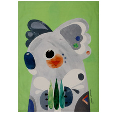 Koala by Pete Cromer Cotton Teatowel
