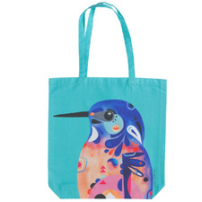 Azure Kingfisher by Pete Cromer Cotton Tote Bag