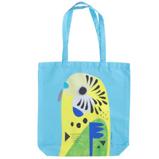 Budgerigar by Pete Cromer Cotton Tote Bag