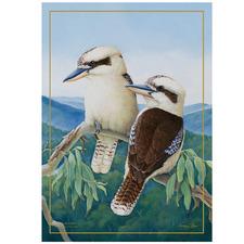 Kookaburra Birds of Australia KC Cotton Teatowel