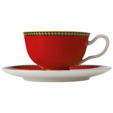 Red Teas & C's Contessa Classic 200ml Footed Cup & Saucer Set
