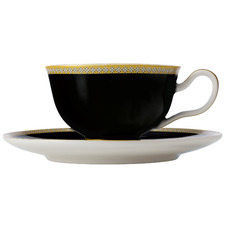 Black Teas & C's Contessa Classic 200ml Footed Cup & Saucer Set