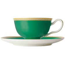 Green Teas & C's Contessa Classic 200ml Footed Cup & Saucer Set