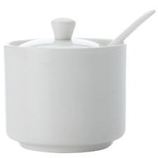 2 Piece White Basics Sugar Jar & Spoon Set