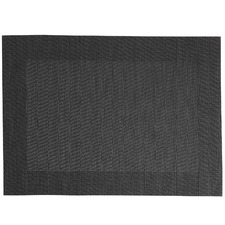 Charcoal Wide Border Placemats (Set of 12)