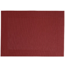 Red Wide Border Placemats (Set of 12)
