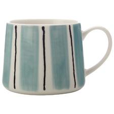 Blue Fine Line 330ml Porcelain Mugs (Set of 6)