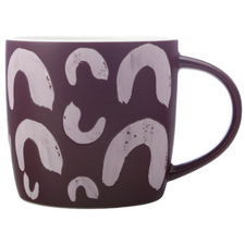 Purple Macaroni 440ml Porcelain Mugs (Set of 6)