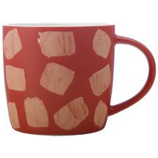 Terracotta Macaroni 440ml Porcelain Mugs (Set of 6)