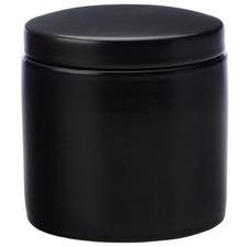 Black Epicurious 600ml Porcelain Canister