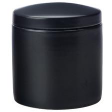 Black Epicurious 1L Porcelain Canister