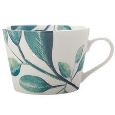Jade Winter Bloom 450ml Porcelain Mugs (Set of 6)