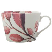 Raspberry Winter Bloom 450ml Porcelain Mugs (Set of 6)