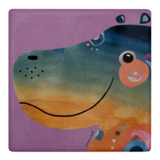 Hippo Pete Cromer Wildlife Square Ceramic Coasters (Set of 6)