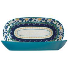 Blue Rhapsody 43cm Oval Serving Bowl