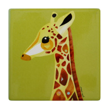 Giraffe Pete Cromer Wildlife Square Ceramic Coasters (Set of 6)