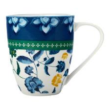 Blue Rhapsody 350ml Porcelain Coupe Mugs (Set of 4)