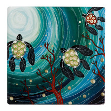 Turtles Melanie Hava Jugaig-Bana-Wabu Ceramic Coasters (Set of 6)