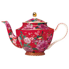 Cherry Red Teas & C's Silk Road 1L Teapot with Infuser