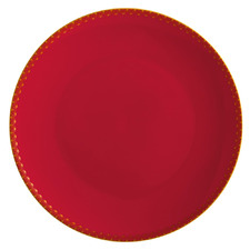 Cherry Red Teas & C's Classic 19.5cm Coupe Side Plate