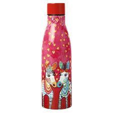 500ml Zig Zag Zebras Love Hearts Double Wall Bottle