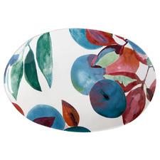 Samba 28cm Oval Stoneware Platter