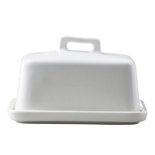 White Epicurious Porcelain Butter Dish