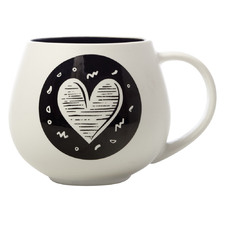 The Letterettes Heart 450ml Porcelain Snug Mug