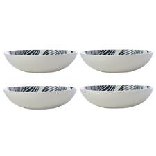 Panama 20cm Porcelain Coupe Bowls (Set of 4)
