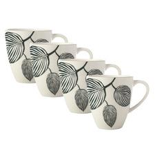 Panama 350ml Porcelain Coupe Mugs (Set of 4)