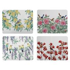 4 Piece Royal Botanic Garden Friends Placemat Set
