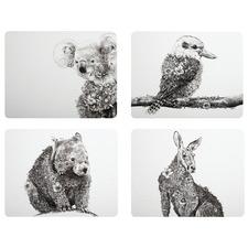 4 Piece Animals Marini Ferlazzo Placemat Set