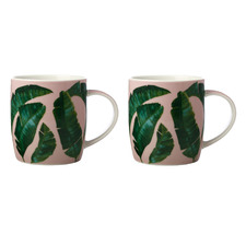 Banana Leaf Haven 380ml Mugs (Set of 2)