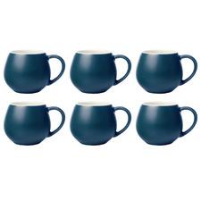 Maxwell & Williams Teal Tint 120ml Mini Snug Mugs (Set of 6)