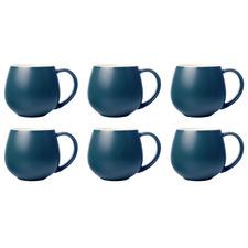 Maxwell & Williams Teal Tint 450ml Snug Mugs (Set of 6)