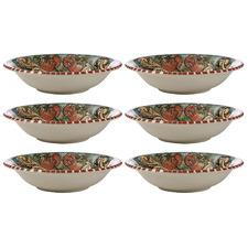 Pomegranates Ceramica Salerno 21cm Pasta Bowls (Set of 6)