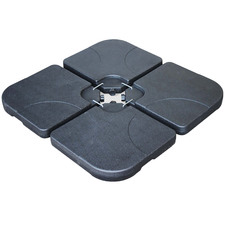 80kg Black Umbrella Base (Set of 4)