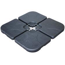 80kg Black Umbrella Bases (Set of 4)