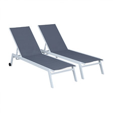 Elsa Adjustable Sun Loungers (Set of 2)