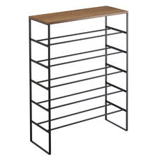 Tower 5 Tier Metal & Wood Shoe Rack