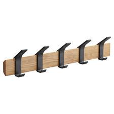 Rin 5 Hook Metal & Wood Coat Rack