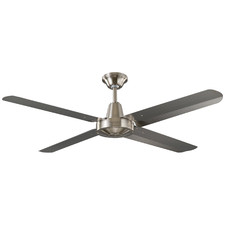 Brushed Chrome Velocity Ceiling Fan