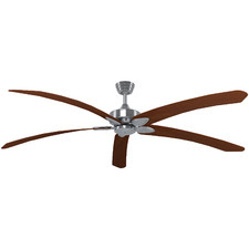 Brushed Nickel Base Windpoint Ceiling Fan