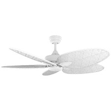 White Base Windpoint Ceiling Fan