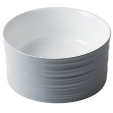 Grey & White Willow Round Ceramic Basin