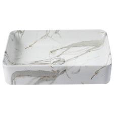 Regency Small Rectangular Contemporary Ceramic Basin