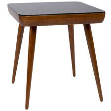 Walnut Luca Square Smart Side Table