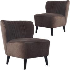 Rosie Chenille Armchairs (Set of 2)